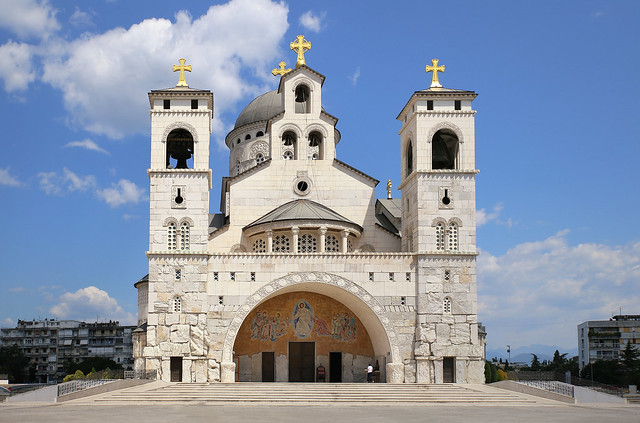 The new Cathedral in the capital city Podgorica of Montenegro