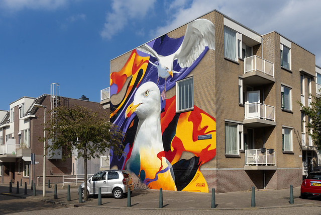 Mural by Karski & Beyond, The Hague, The Netherlands
