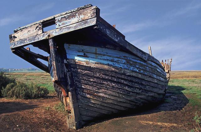 Derelict boat at Blakeney, Norfolk