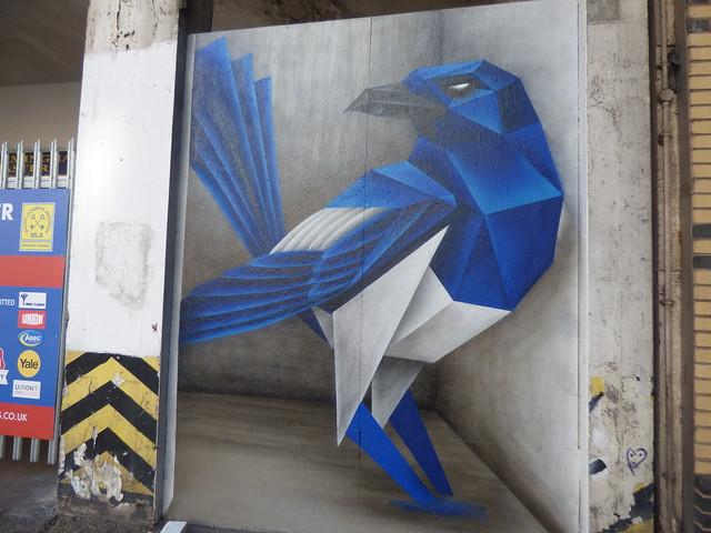 Blue bird by Annatomix on Dudley Street