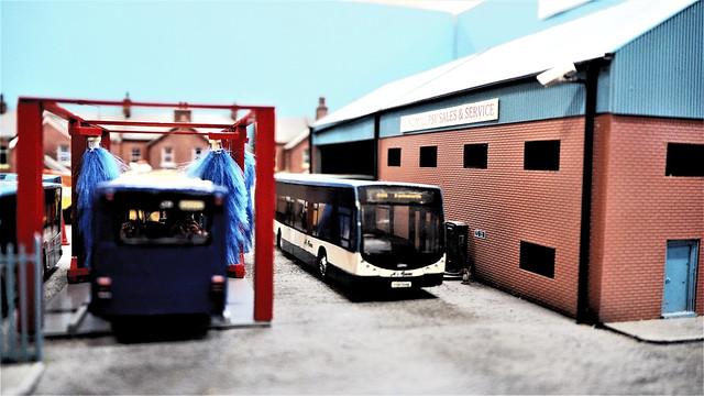 Bus Garage Model Diorama