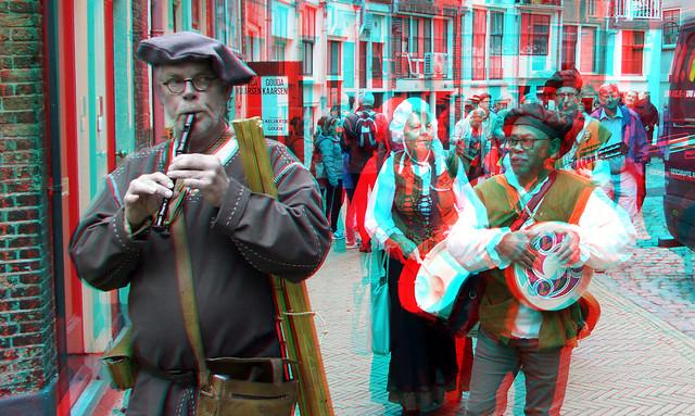 Straatmuzikanten GOUDA 750jaar 3D