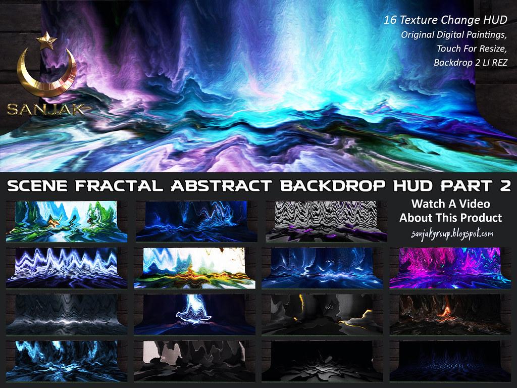 Scene Fractal Abstract 16 Color Backdrop HUD P2 Sanjak