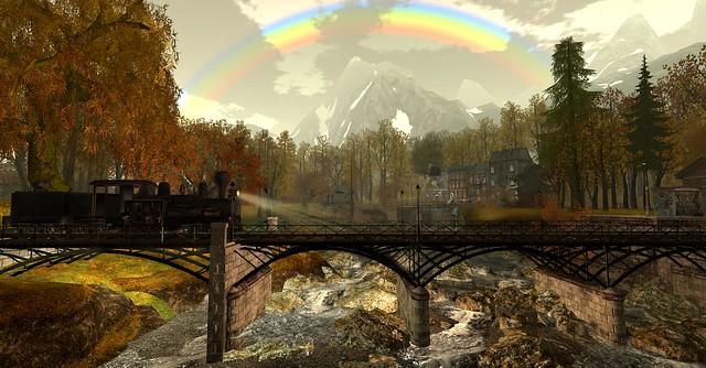 A rainbow shines over Cherishville ll