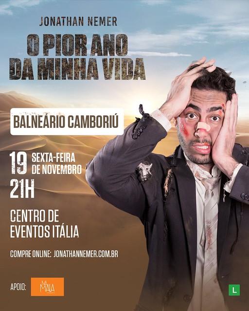 STAND UP COM JONATHAN NEMER - BALNEÁRIO CAMBORIÚ