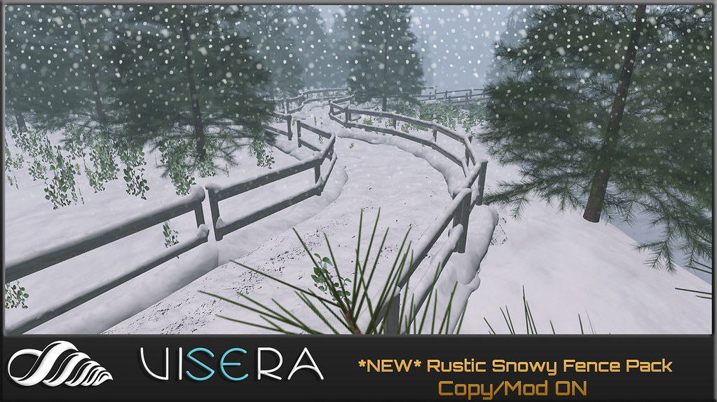 *NEW*  Rustic Snowy Fence Set (WELCOME WİNTER)