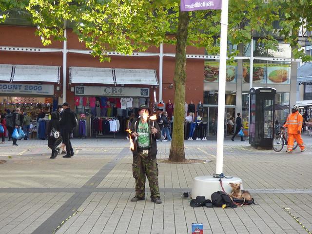 Edgbaston Street fire juggler