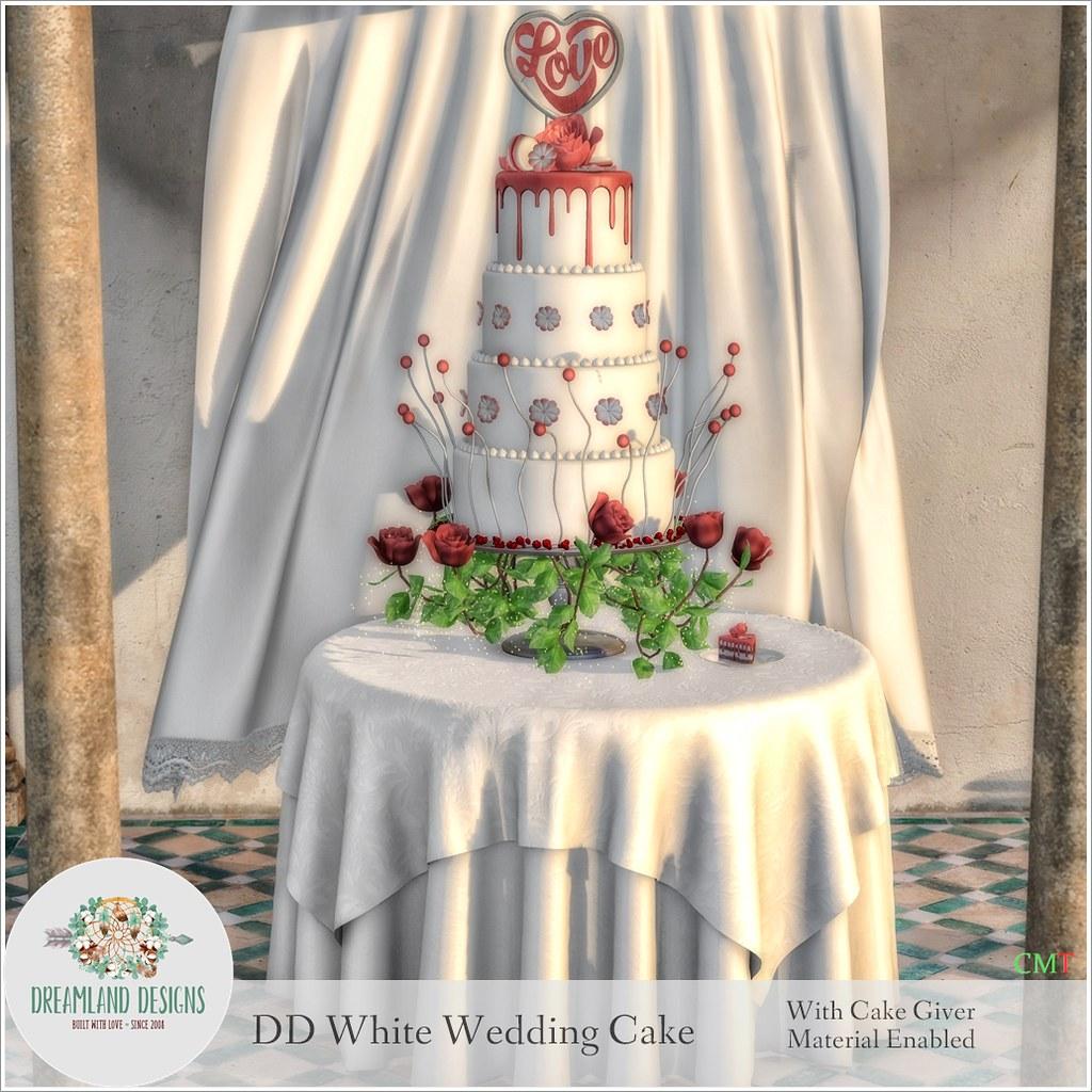 DD White Wedding Cake With Cake GiverAD