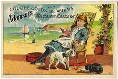 Adamson's Botanic Balsam. New York. Trade Card.