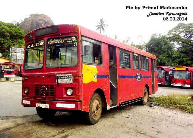 62-3258 Kurunegala South  Depot Tata - LP 1210/52 Wesco B type Bus at Kurunegala in 06.03.2014