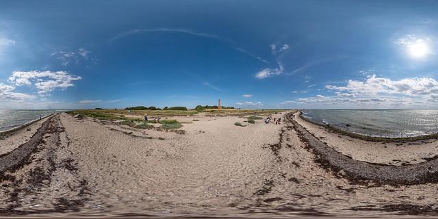 360°   Strand bei Brücke