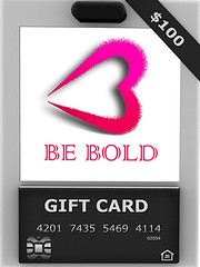 .::BE BOLD::. GIFT CARD + PROMO + HUNT