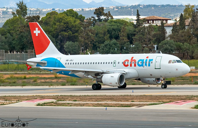 HB-JOJ Airbus A319-112 CH AIR s/n 3024 * Palma 2021 *