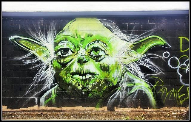 Mural of Yoda from Star Wars