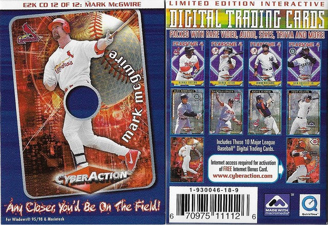 2000 Cyberaction E2K CD and Pamphlets - McGwire, Mark