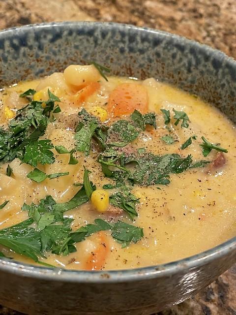 Potato and Seitan Soup