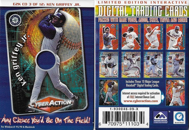 2000 Cyberaction E2K CD and Pamphlets - Griffey Jr, Ken