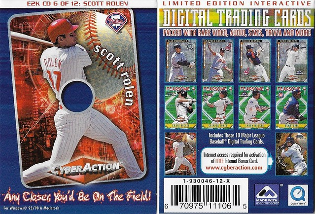 2000 Cyberaction E2K CD and Pamphlets - Rolen, Scott