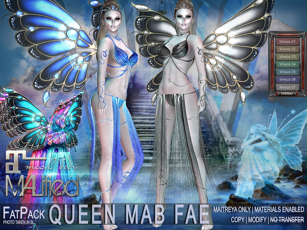 MALified – Queen Mab Fae Outfits – FatPack