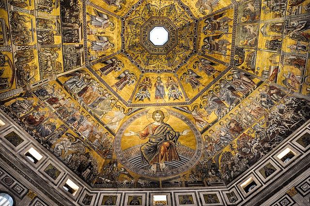 La coupole octogonale du Battistero de San Giovani, Piazza del Duomo, Florence, Italie (in Explore 18/10/2021)