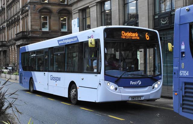 First Glasgow Alexander Dennis Enviro 300 67828 Route 6