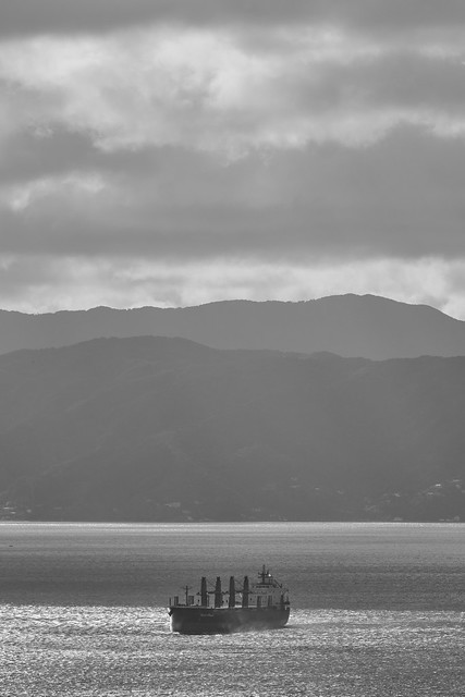 A Ship in the Harbour, Wellington, New Zealand