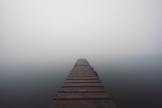 Foggy Morning Lake Weßling