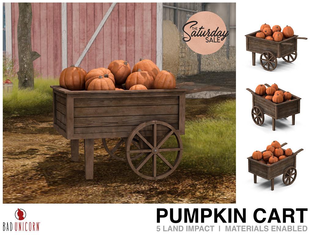 NEW! Pumpkin Cart @ Bad Unicorn Mainstore