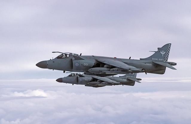 BAE Sea Harrier FA.2's XZ497 N001 + ZH796 N002 801 NAS 06-03