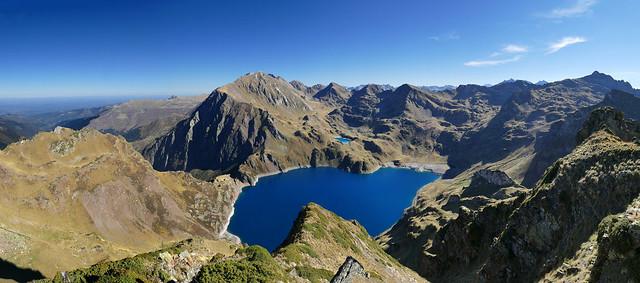 Pic des Aiguillettes - Le lac Bleu
