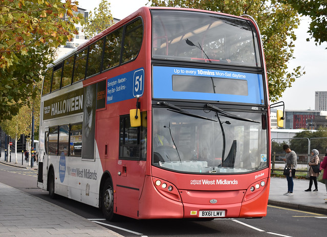 'National Express West Midlands' Alexander Dennis Enviro 400 '4859, Brinlee' (BX61 LMV)