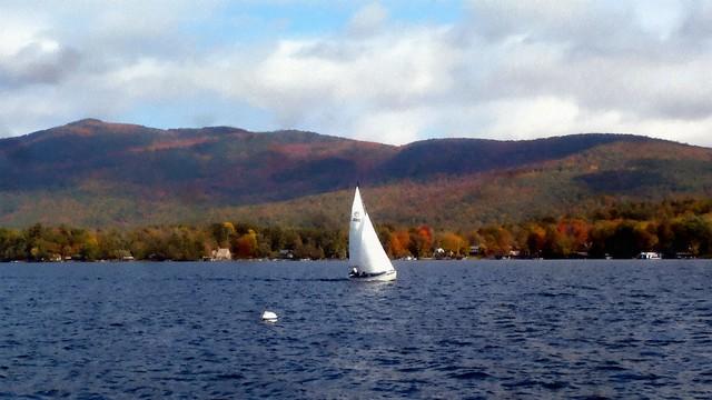October breezes on Lake George