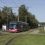 Tramvajs Škoda 15T Riga Dammes ielas pieturā, 19.09.2021.