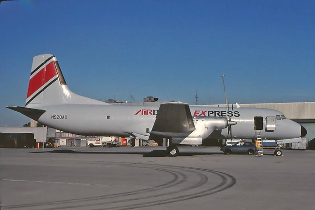 N920AX Airborne Express YS-11A at KCLE