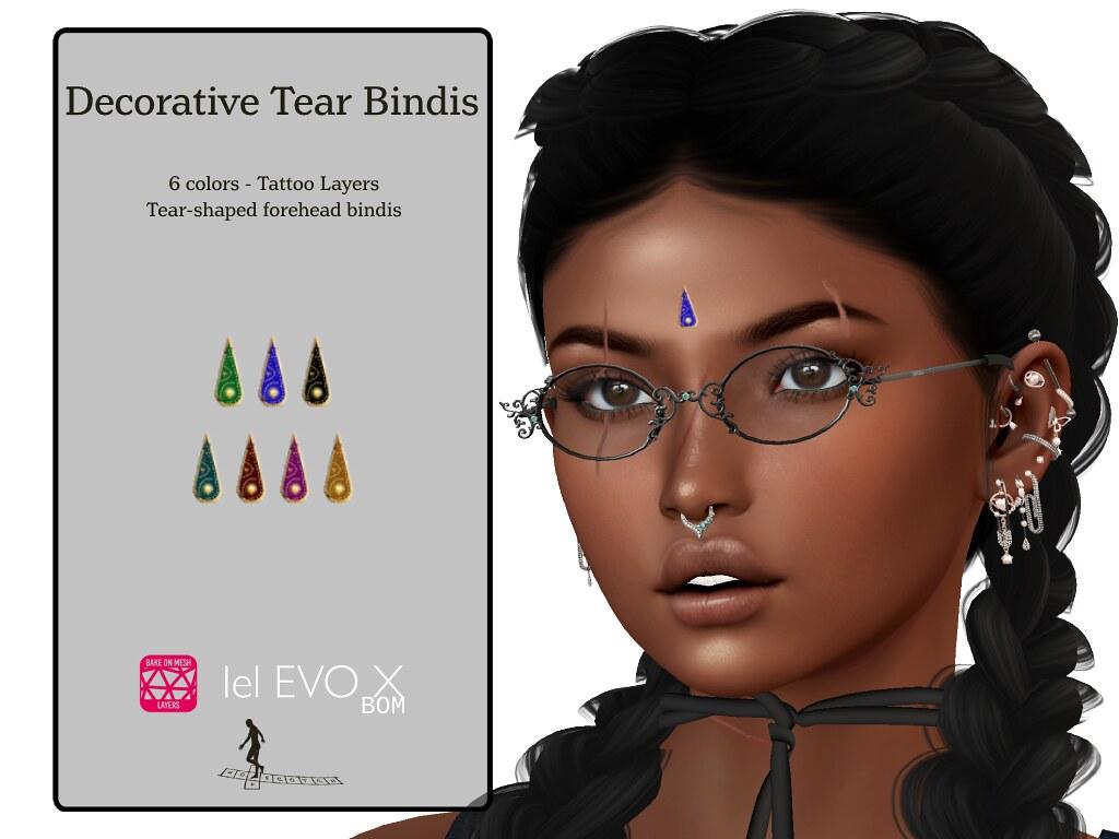 Decorative Tear Bindis Evo-X Update