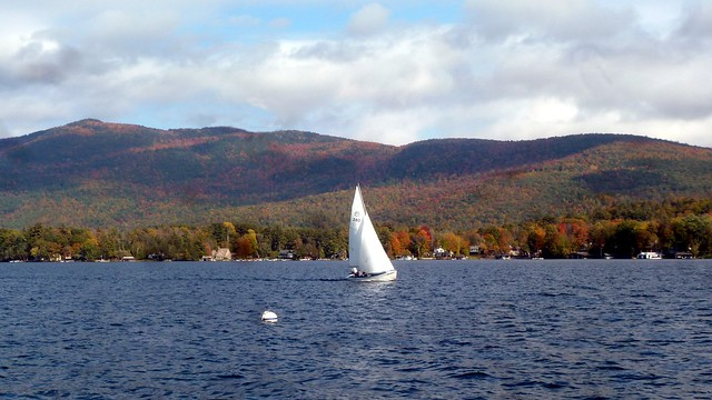 Sailing in the October breezes