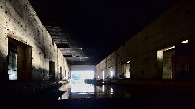 In the submarine base