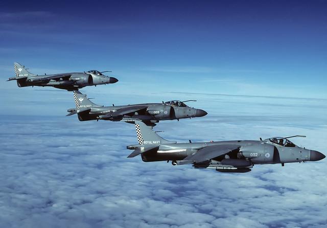 BAE Sea Harrier FA.2's ZH797 ZD579 ZH812 801 NAS 17-11-00