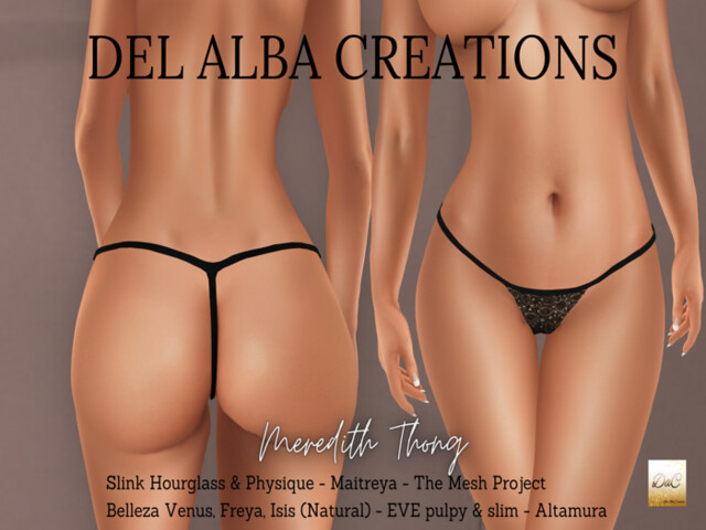 Del Alba Creations | New Releases – Meredith Thong