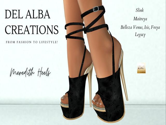 Del Alba Creations | New Release – Meredith Heels