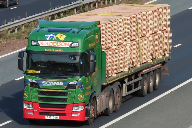 Robert Addison, Scania R540 (SV21OKN) On The A1M Southbound