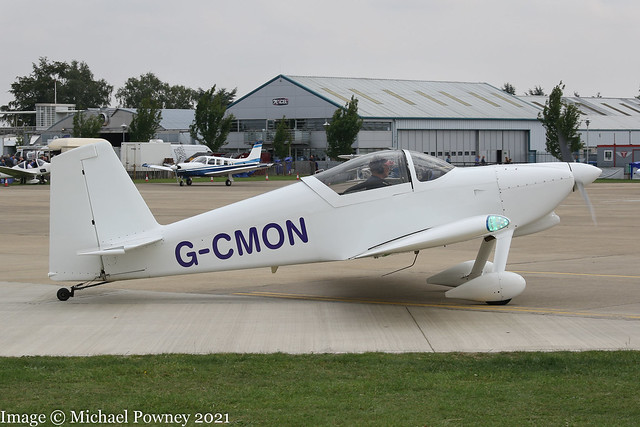 G-CMON - 2018 build Vans RV-7, taxiing for departure at Sywell during the 2021 LAA Rally