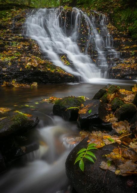 Gorpley Clough Waterfall, Todmorden, West Yorkshire, North West England, United Kingdom