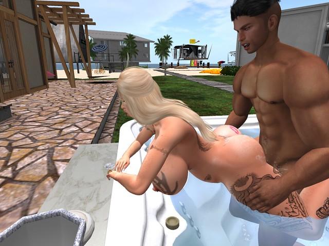 Christening the Hot tub