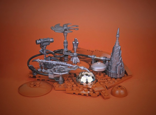 Industrial Martian outpost