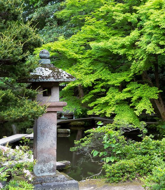In the Garden at Oyama-Jinja