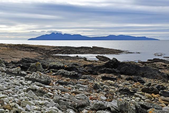 Isle of Rum, from Elgol Peninsular