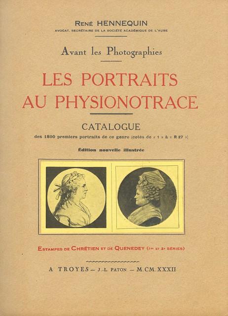 Rene Hennequin - Les Portraits au Physionontrace, 1932