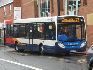 Stagecoach in Sunderland 39715 (NK58 AHA)
