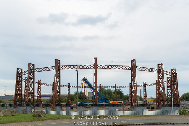 Beckton Gas Holder demolition
